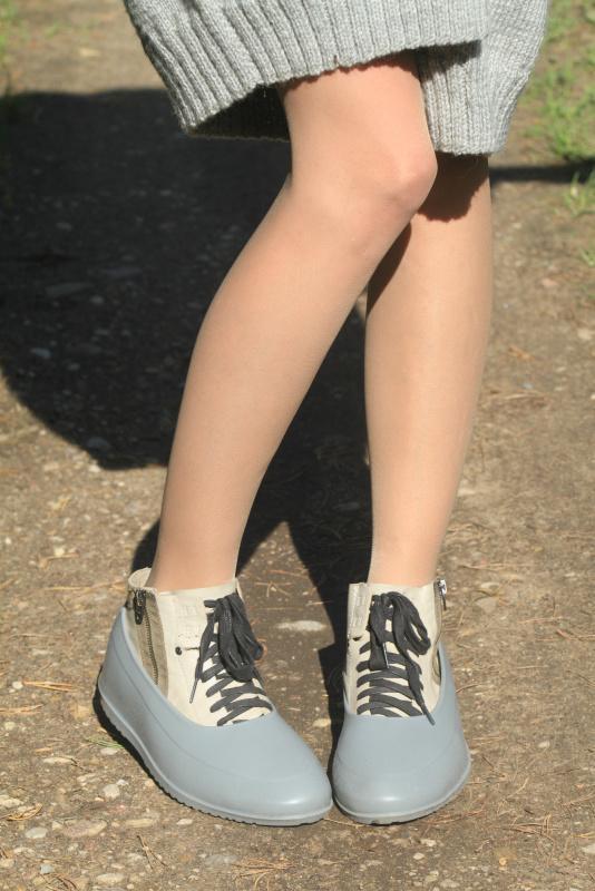 Grey universal silicone overshoes